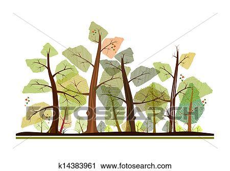 剪贴画 - 森林