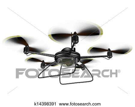 Clipart Of Isolated Spy Drone K14398391
