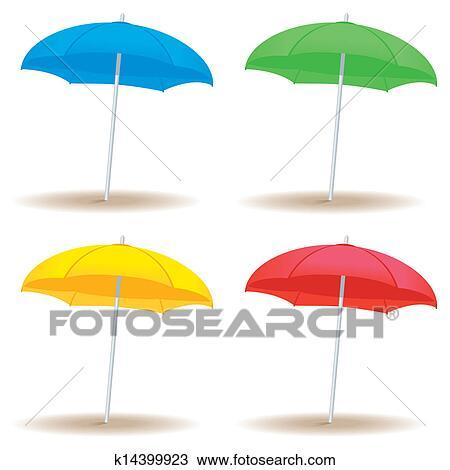 clipart parapluie plage solide k14399923 recherchez. Black Bedroom Furniture Sets. Home Design Ideas