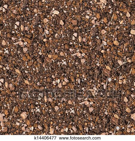 Stock Illustration of Soil with Small Stones. Seamless ...