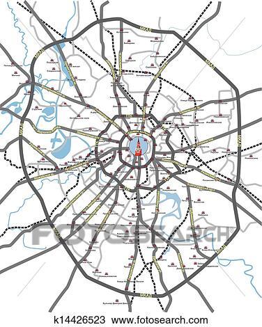 莫斯科, 道路