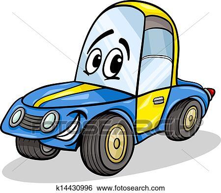 clipart rigolote voiture course dessin anim illustration