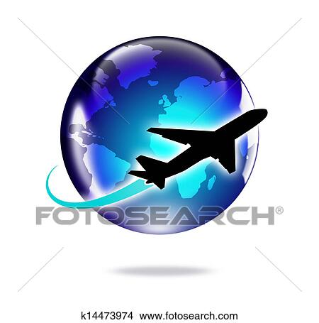 Dessins avion voyage monde k14473974 recherche de clip arts d 39 illustrations et d 39 images - Dessin avion stylise ...
