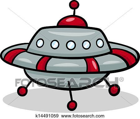 Clipart ovnis soucoupe volante dessin anim - Soucoupe volante dessin ...