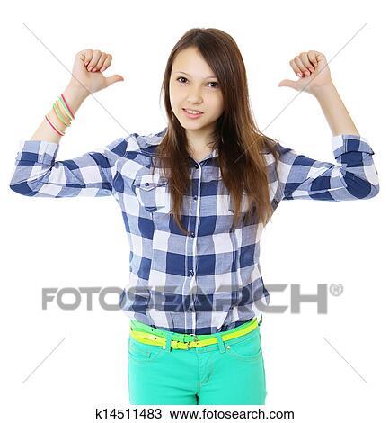 young teen thumb: