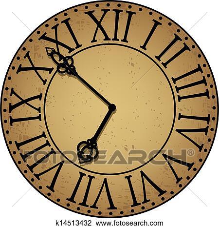 Clipart Of Antique Clock Face K14513432 Search Clip Art