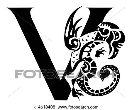 Clipart of Celtic Knot-work Capital Letter J k5530633 - Search ...