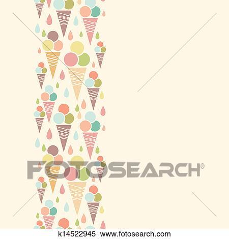 Clipart - Ice cream cones Vertical Ice Cream Border