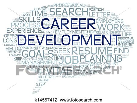 Clip Art - Career development in word tag cloud. Fotosearch - Search ...: www.fotosearch.com/CSP992/k14557412
