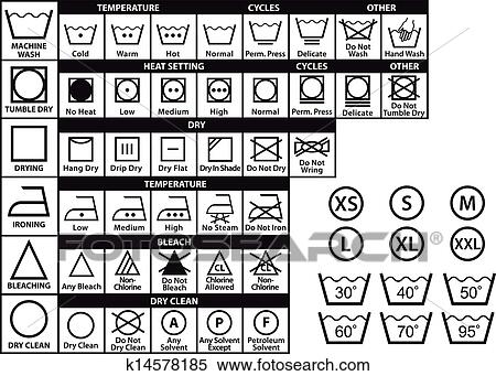 clipart textile soin symboles vecteur ensemble k14578185 recherchez des clip arts des. Black Bedroom Furniture Sets. Home Design Ideas
