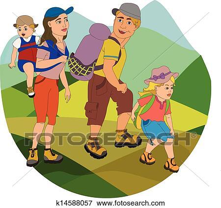 family hiking clipart - photo #8