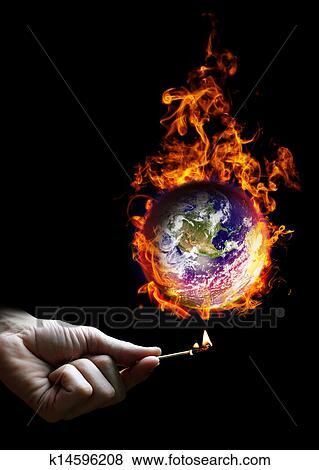 스톡 일러스트 - 나아가다, 세계, 불에 k14596208 - EPS 클립 아트 ...