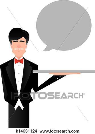 Clipart of Butler or Servant Vector k14631124 - Search ... Butler Servant Clipart