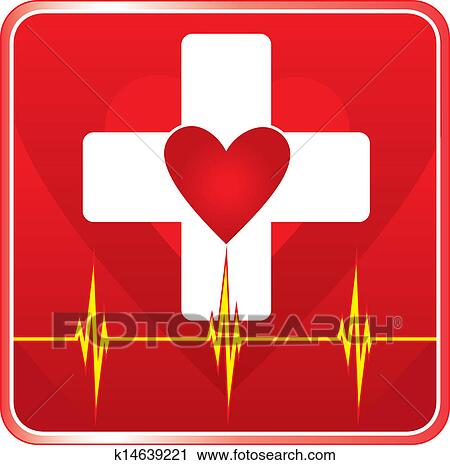 Clipart of First Aid Medical Health Symbol k14639221 - Search Clip ...