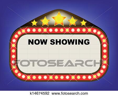 Theatre marquee Clip Art EPS Images. 273 theatre marquee clipart ...