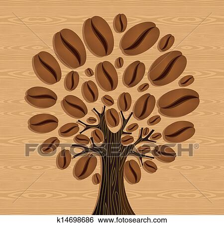 Coffee Bean Tree Drawing Clip Art Coffee Beans Tree