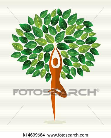 clipart inde yoga feuille arbre k14699564 recherchez des clip arts des illustrations. Black Bedroom Furniture Sets. Home Design Ideas