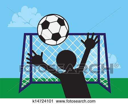 Soccer net clip art