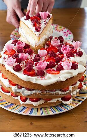 Фото красочный торт