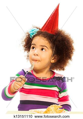 Stock Photography of Kid eating birthday cake k13151110 Search