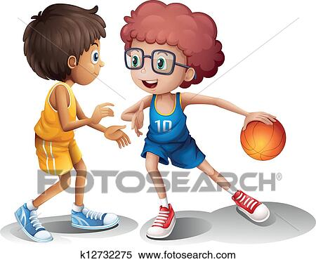 Clipart of Kids playing basketball k12732275 - Search Clip ...
