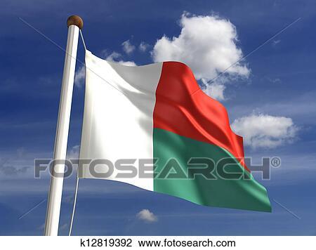 Clip Art Of Madagascar Flag K Search Clipart - Madagascar flag