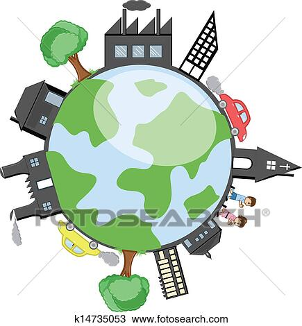 clipart of modern city earth vector k14735053 search clip art rh fotosearch com modern clip art free modern clipart black and white