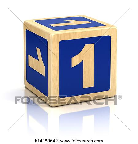 Stock Photo of number one 1 wooden blocks font k14158642 - Search ...