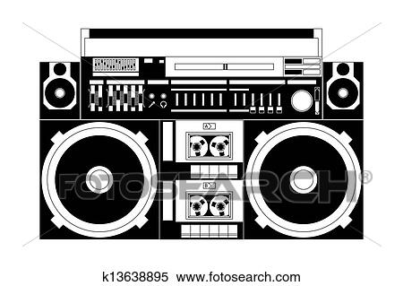 Clipart of old school boombox k13638895 search clip art fotosearch search clip art illustration murals drawings sciox Gallery