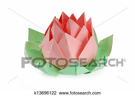 Stock Photo Of Origami Lotus Flower K13696122 Search Fotosearch