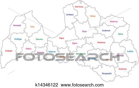 Clipart Of Outline Latvia Map K Search Clip Art - Latvia map outline