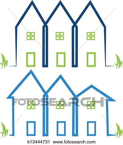 clipart of real estate houses logos k13444731 search clip art rh fotosearch com real estate clip art symbols real estate clip art professional