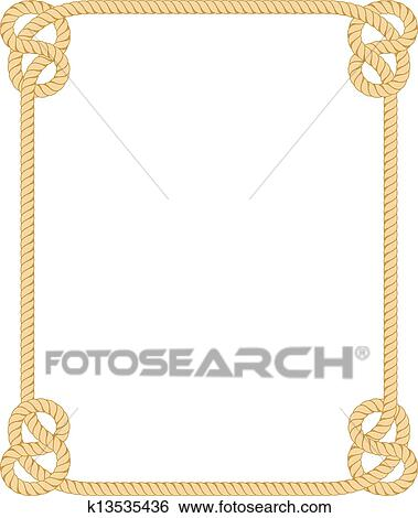 clip art of rope border k13535436 search clipart illustration rh fotosearch com cowboy rope border clip art nautical rope border clip art free