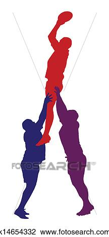 clipart of rugby lineout jumper support isolat k14654332 search rh fotosearch com peer support clipart clipart support team