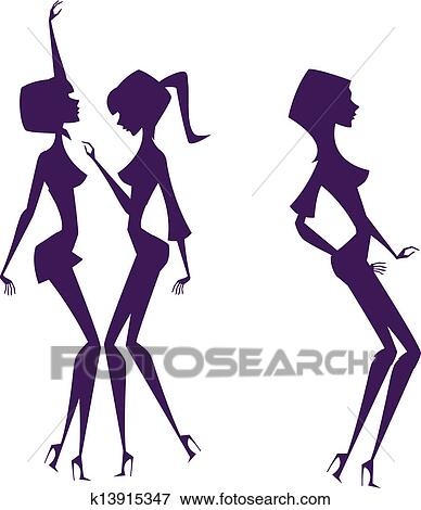 clip art of shadow of women k13915347 search clipart illustration rh fotosearch com shadow clipart images shadow clipart girl