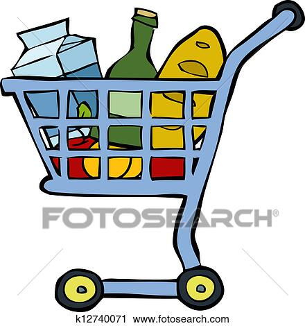 clipart of shopping cart k12740071 search clip art illustration rh fotosearch com