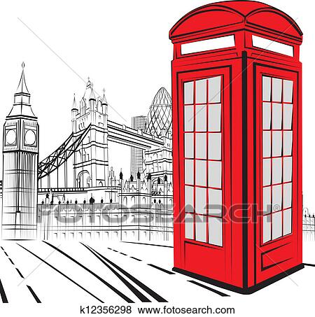 clip art of sketch london city k12356298 - search clipart