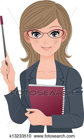clipart of smart female lecturer k13233510 search clip