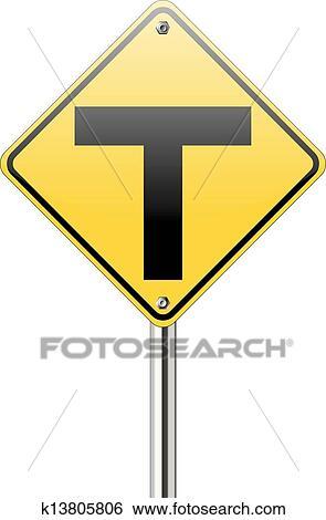 clip art of t junction road traffic k13805806 search clipart rh fotosearch com clip art road runner cartoon clip art road repair