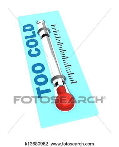 Frozen Thermometer Clip Art