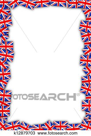 Drawing Of Uk Flag Frame K12879703 Search Clipart