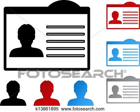 clipart of vector name tag for id human user member k13861895 rh fotosearch com name tag clip art free name tag border clipart