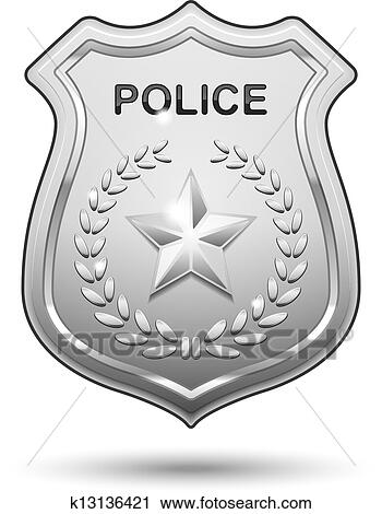 Clipart of Vector Police Badge k13136421 - Search Clip Art ...