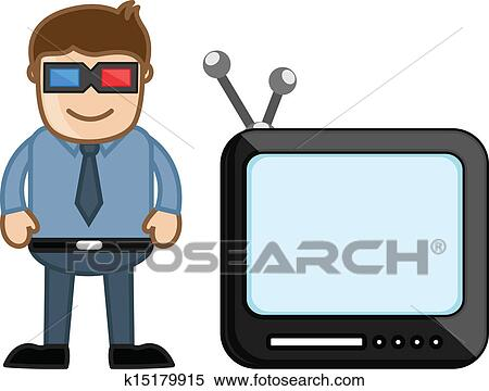 clipart of 3d smart tv business cartoons k15179915 search clip rh fotosearch com clip art business people clip art business office