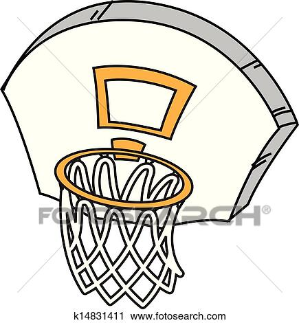clipart of basketball hoop k14831411 search clip art illustration rh fotosearch com Basketball Logos Clip Art free clipart basketball hoop