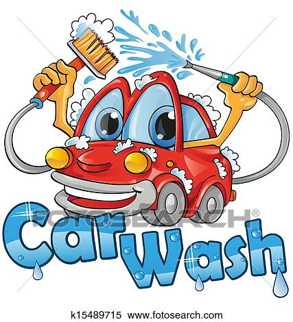 clipart of car wash service k15489715 search clip art rh fotosearch com Free Car Wash Art Free Car Wash Graphics
