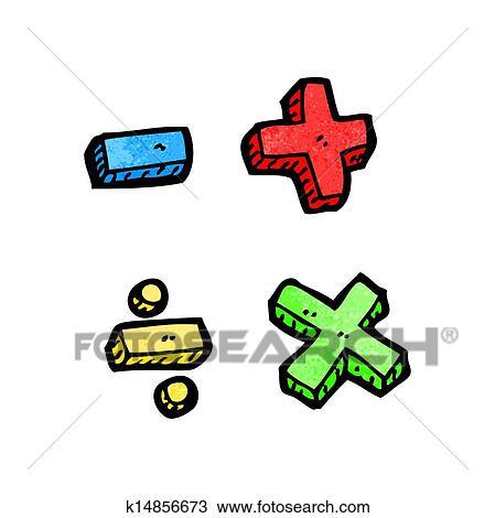 Clipart Of Cartoon Math Symbols K14856673 Search Clip Art