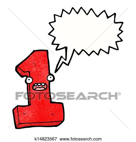clip art of cartoon number one k14823567 search clipart rh fotosearch com number one finger clipart number one dad clipart