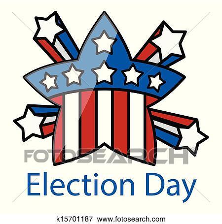 clip art of election day retro celebration star k15701187 search rh fotosearch com Thanksgiving Day Clip Art election day clipart