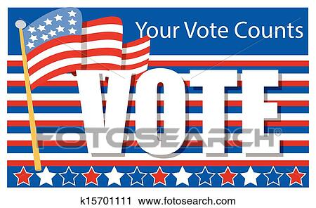clipart of election day voting banner k15701111 search clip art rh fotosearch com election day clipart 2016 election day clipart free